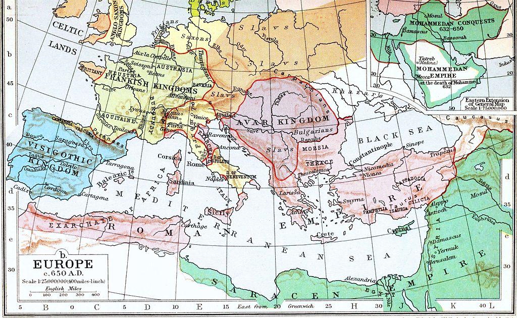 Slavs in Europe 600 AD