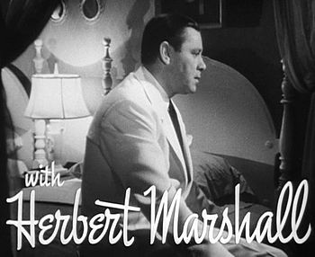 Cropped screenshot of Herbert Marshall from th...