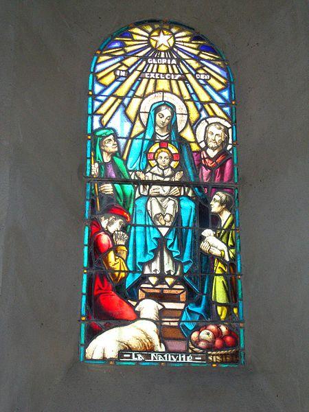 File:Issor (Pyr-Atl, Fr) vitrail 2 La nativité.JPG