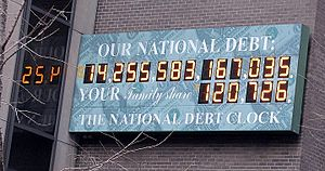 US National Debt Clock, NYC (2011-03-04).