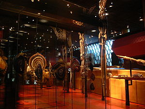 Exhibit at the Musée du quai Branly, Paris, France