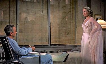 James Stewart And Grace Kelly In Rear Window