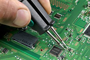 Soldering of a 0805 component