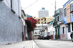 Street in Tegucigalpa city centre, Honduras
