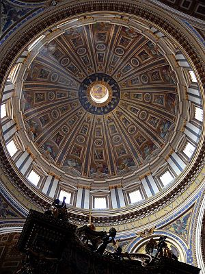 The dome of the St. Peter's Basilica in Vatica...