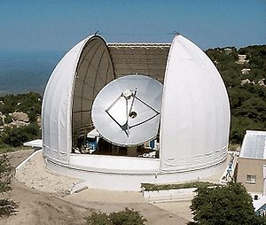 Photo of 12 meter radio telescope on Kitt Peak...