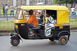 An auto rickshaw in Bangalore, India