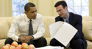 President Barack Obama and OMB director Peter ...