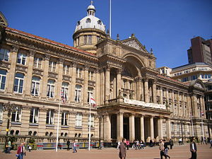 Birmingham City Council House is in Victoria S...