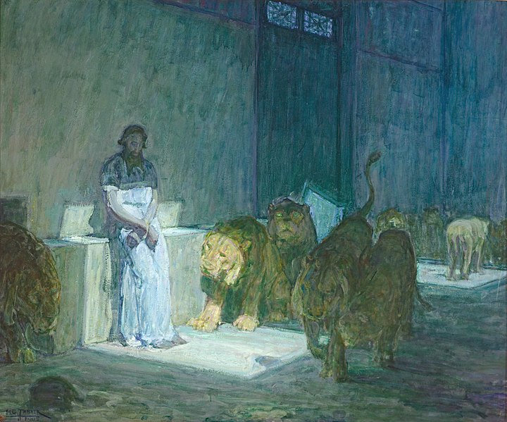 Daniel in the Lions' Den // larryhuntbiblecommentary.wordpress.com