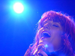 Florence Welch of Florence + the Machine perfo...