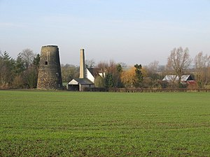 The wind and watermill complex at Guilden Mord...