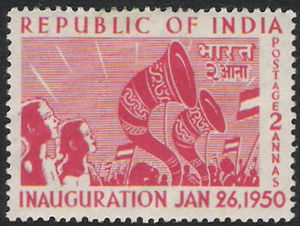 English: Indian postage stamp, issued to celeb...