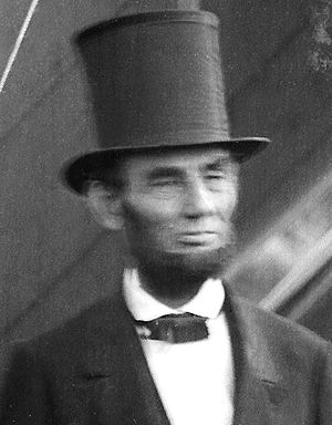 English: Abraham Lincoln in stovepipe hat