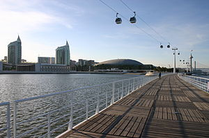 Vista geral da antiga EXPO '98, actual Parque das Nações, Lisboa.