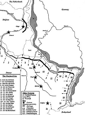 Map of the principal fortified section of the ...