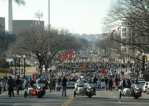 English: March for Life crowd shot of the begi...