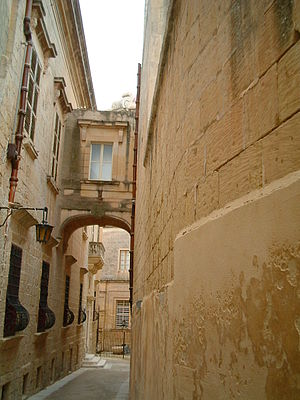 Typical narrow medieval street