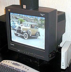 Viewsonic CRT computer monitor.