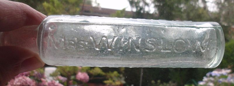 File:Mrs Winslows Soothing Syrup bottle.JPG