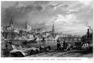Newcastle-upon-Tyne from New Chatham engraving...