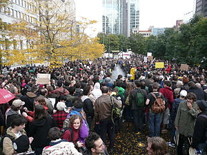 English: Occupy Montreal on Saturday, October ...