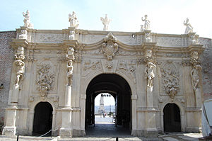 English: 3rd gate of Alba Iulia fortress inter...