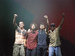 English: Rage Against The Machine End of set, ...