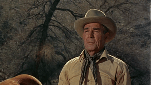 English: Randolph Scott in Buchanan Rides Alon...