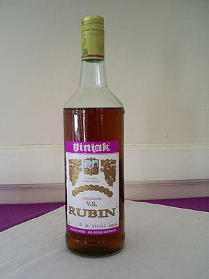 A bottle of Vinjak VS Brandy