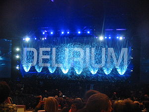 English: Cirque du Soleil's DELIRIUM stage bef...