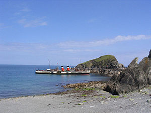 English: The landing stage, Lundy island Paddl...