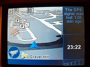 A common message shown on TomTom OS when there...