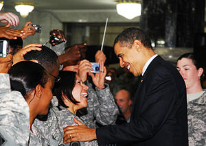 President Barack Obama visits Al Faw Palace on...