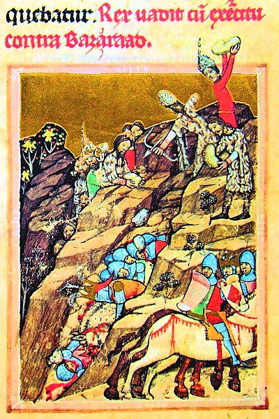 The battle of Posada (Viennese copy of Hungarian Illuminated Chronicle)
