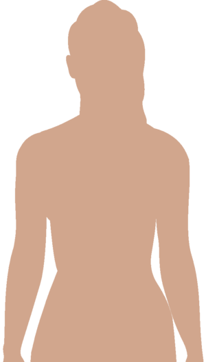 Human body, upper part, front. Adapted for use...