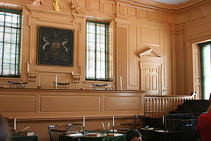 English: Public court room in Independence Hall
