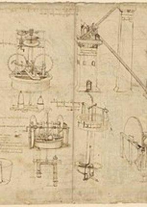 Leonardo da Vinci, drawings of machines