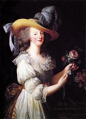 Marie Antoinette à la rose.