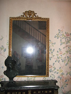 Reportedly haunted mirror within Myrtles Plant...