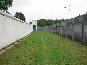 Preserved section of the border between East G...