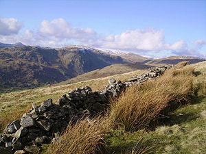 Old Wall, Swinklebank Crag Above the crags jus...