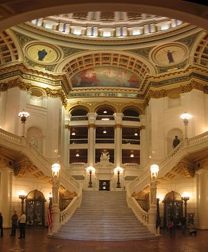 Staircase and rotunda of the Pennsylvania Stat...