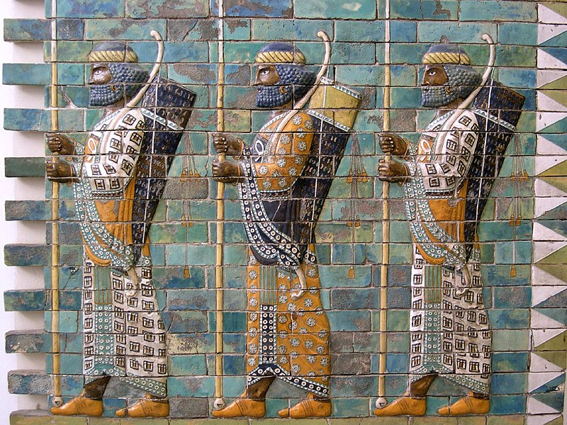 File:Persian warriors from Berlin Museum.jpg