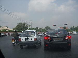 English: A view of peshawar road rawalpindi cantt