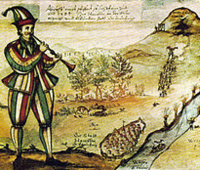 1592 Painting Of Pied Piper Copied From The Glass Window Of Marktkirche In Hamelin