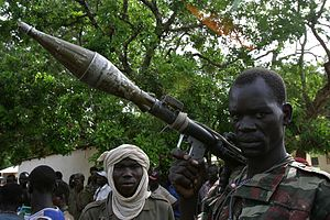 Rebels in the north of the Central African Rep...