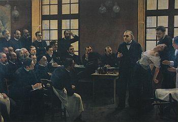 Français : Une leçon clinique à la Salpêtrière - André Brouillet - 1887