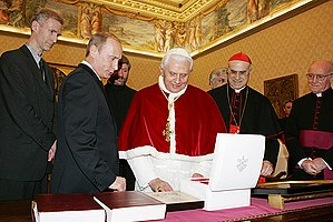 VATICAN. With Pope Benedict XVI.