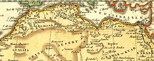 Map. Barbary Coast of North Africa 1806.